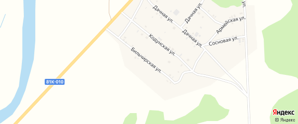Бильчирская улица на карте села Хоринск с номерами домов