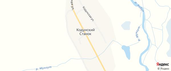 Карта улуса Кодунский Станка в Бурятии с улицами и номерами домов