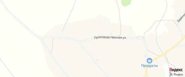 Производственная улица на карте села Читкана с номерами домов