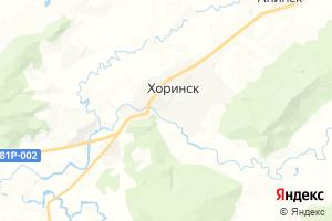 Карта с. Хоринск Республика Бурятия