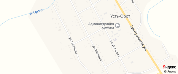 Улица Жанаева на карте улуса Усть-Орот с номерами домов