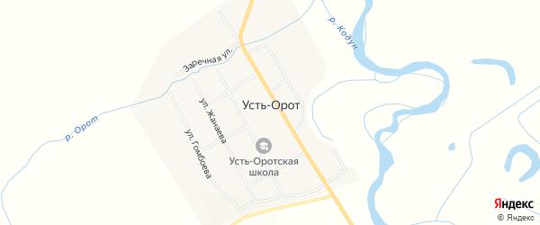 Карта улуса Усть-Орот в Бурятии с улицами и номерами домов