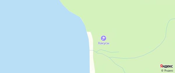Местность Хакусы на карте Северо-байкальского района Бурятии с номерами домов