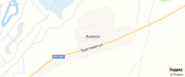 Карта улуса Анинска в Бурятии с улицами и номерами домов