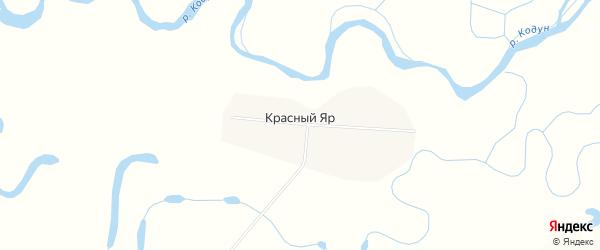 Карта села Красного Яра в Бурятии с улицами и номерами домов