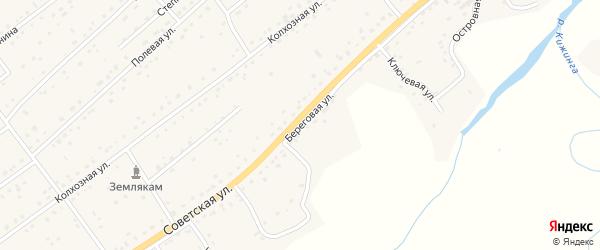 Береговая улица на карте села Кижинги с номерами домов