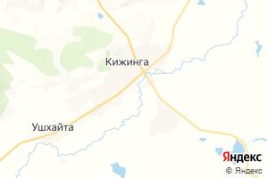 Карта с. Кижинга Республика Бурятия
