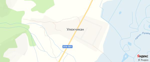 Карта улуса Улюкчикан в Бурятии с улицами и номерами домов