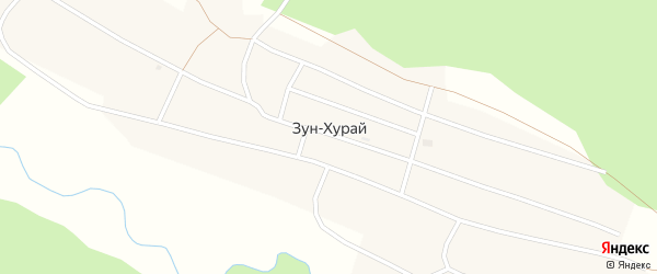 Школьная улица на карте поселка Зун-Хурай Бурятии с номерами домов