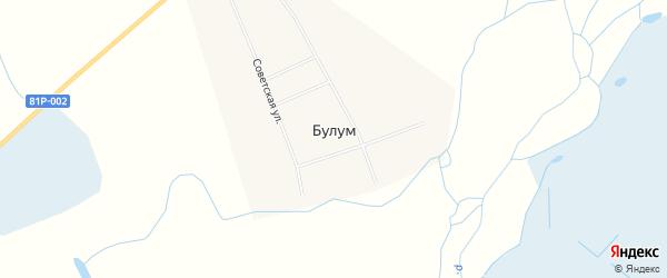 Карта улуса Булум в Бурятии с улицами и номерами домов