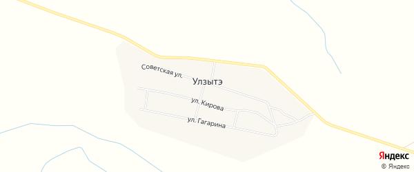 Карта улуса Улзытэ в Бурятии с улицами и номерами домов