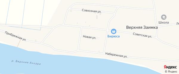 Новая улица на карте села Верхней Заимки Бурятии с номерами домов