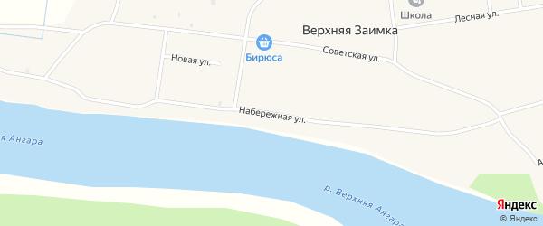 Набережная улица на карте села Верхней Заимки с номерами домов