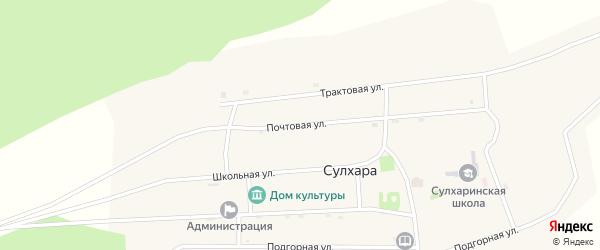 Почтовая улица на карте села Сулхары с номерами домов