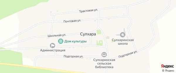 Ключевая улица на карте села Сулхары с номерами домов