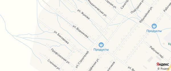 Улица Водникова на карте села Курумкана с номерами домов