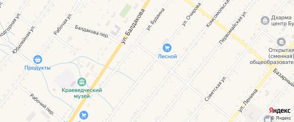 Луговой переулок на карте села Курумкана с номерами домов
