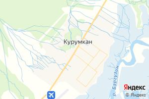 Карта с. Курумкан Республика Бурятия
