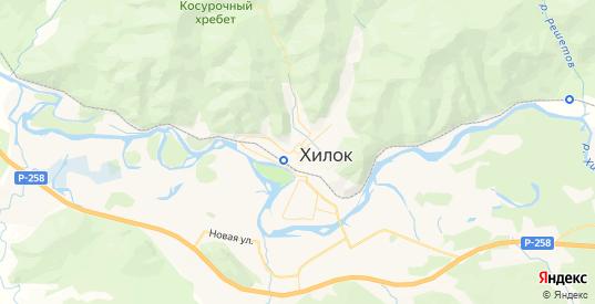 Карта Хилка с улицами и домами подробная. Показать со спутника номера домов онлайн