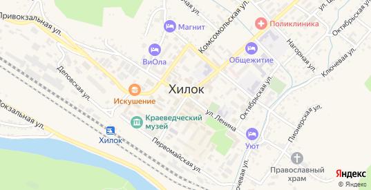 Восточный переулок в Хилке с номерами домов на карте. Спутник и схема онлайн