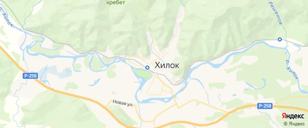 Карта Хилка с районами, улицами и номерами домов: Хилок на карте России