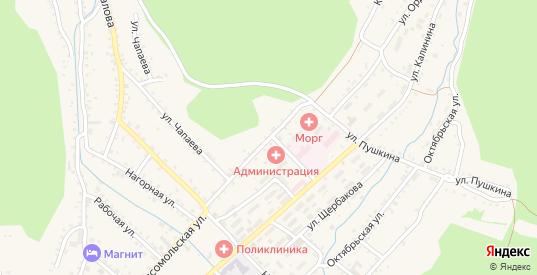 Комсомольская улица в Хилке с номерами домов на карте. Спутник и схема онлайн