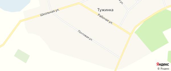 Почтовая улица на карте поселка Тужинки с номерами домов