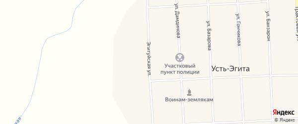 Эгитуйская улица на карте улуса Усть-Эгита с номерами домов