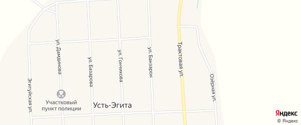 Улица Банзарон на карте улуса Усть-Эгита Бурятии с номерами домов