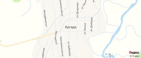 Местность Холбоо-нуур заимка на карте улуса Аргада с номерами домов