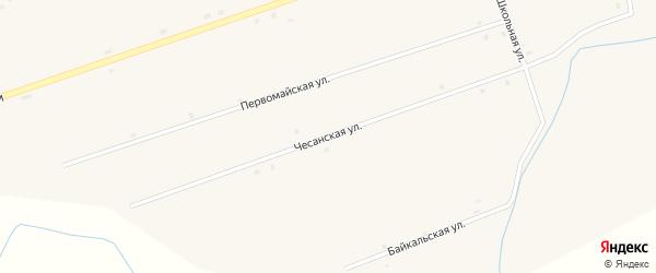 Чесанская улица на карте улуса Загустай Бурятии с номерами домов
