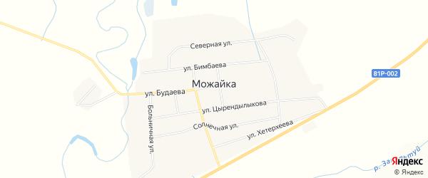 Местность Зун-Хунды на карте села Можайка с номерами домов