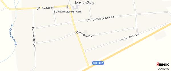 Солнечная улица на карте села Можайка с номерами домов