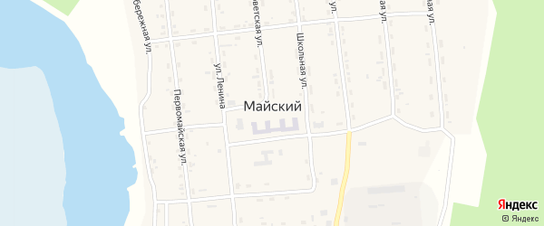 Улица Ленина на карте Майского поселка с номерами домов
