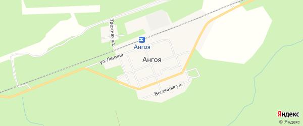 Карта поселка Ангои в Бурятии с улицами и номерами домов