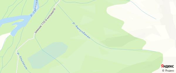 Карта местечка Амнундакана в Бурятии с улицами и номерами домов