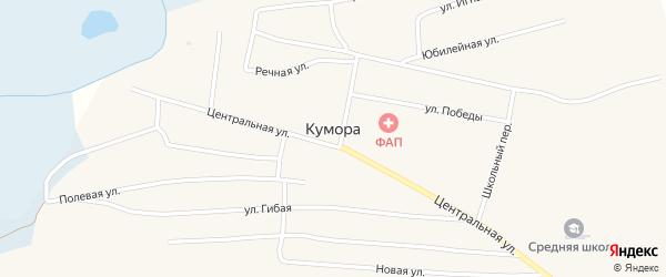 Улица Игнатченко на карте поселка Куморы Бурятии с номерами домов