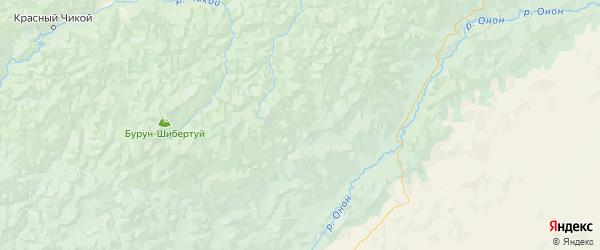 Карта Кыринского района Забайкальского края с городами и населенными пунктами