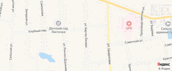 Улица Бартан-Базара на карте Сосново-озерского села с номерами домов