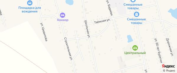 Школьный переулок на карте Сосново-озерского села с номерами домов