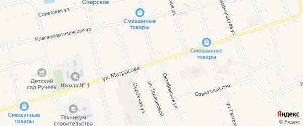 Улица Матросова на карте Сосново-озерского села с номерами домов