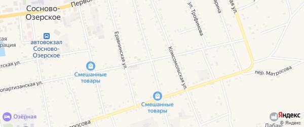 Улица Гастелло на карте Сосново-озерского села Бурятии с номерами домов