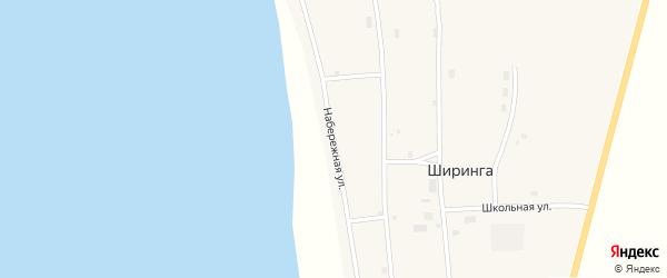 Набережная улица на карте поселка Ширинга с номерами домов