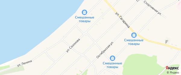 Березовский переулок на карте поселка Гунда с номерами домов