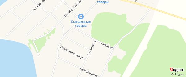 Новая улица на карте поселка Гунда с номерами домов
