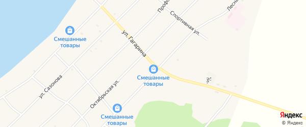 Улица Гагарина на карте поселка Гунда с номерами домов