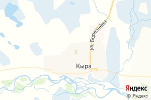 Карта с. Кыра Забайкальский край
