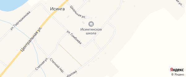 Улица Гомбоева на карте села Исинги с номерами домов