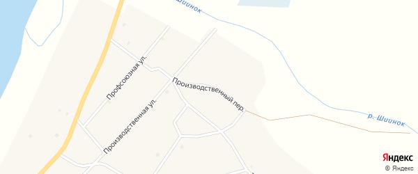 Производственный переулок на карте села Исинги с номерами домов