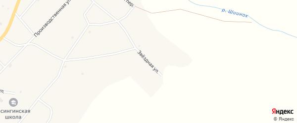 Звездная улица на карте села Исинги Бурятии с номерами домов